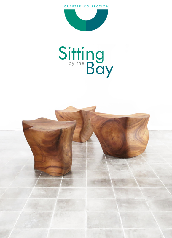 Bay  Suar wood side table  seat is designed by Richard Farnell